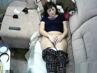 Hidden cam in ceiling fan caught my mom masturbation masturbation films