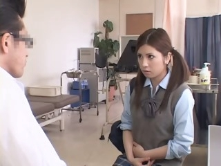 Adorable Jap teen gets her twat drilled during her Gyno exam asian films