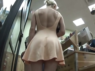 Milf's upskirt in the supermarket upskirt films