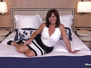 Thick busty Cougar MILF loves young cock milf films