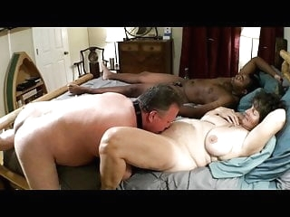 Mistress Joyce with young BBC Cuckold cleans mature films
