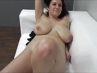 MILF with Big Tits on Casting after WORK blowjob films