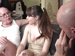 Grandpa watches granddaughter fucking blowjob films