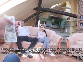 HUNT4K. BF is watching how girl is satisfying older male for money blowjob films