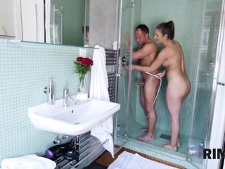 RIM4K. Jennifer surprises her man with outstanding rimming in the shower room european films